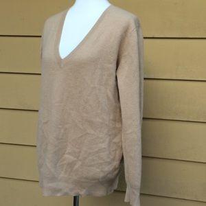 Zara knit 100% Cashmere v neck pullover soft!